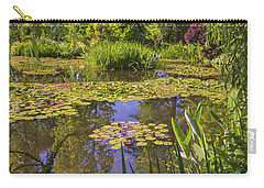 Carry-all Pouch featuring the photograph Giverny France - Claude Monet's Pond  by Allen Sheffield