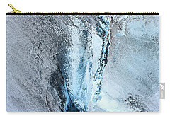 Glacial Abstract Carry-all Pouch by Kristin Elmquist