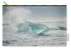 Glacial Iceberg In Beach Surf. Carry-all Pouch