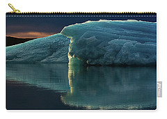 Glacial Lagoon Reflections Carry-all Pouch by Allen Biedrzycki