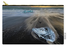 Carry-all Pouch featuring the photograph Glacial Shard by Rikk Flohr