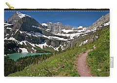 Carry-all Pouch featuring the photograph Glacier Backcountry Trail by Gary Lengyel