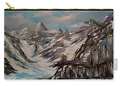Carry-all Pouch featuring the painting Glacier Bay, Alaska by Judith Rhue