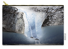 Carry-all Pouch featuring the photograph Glacier Calving - Alaska by Madeline Ellis