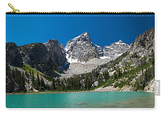 Glacier Fed Teton Lake Carry-all Pouch by Serge Skiba