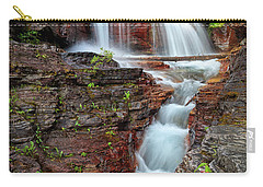 Glacier National Park Waterfall 2 Carry-all Pouch by Andres Leon