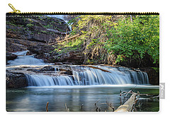 Glacier National Park Waterfall 3 Carry-all Pouch by Andres Leon