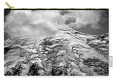Carry-all Pouch featuring the photograph Glacier On Mt Rainier by Lori Seaman