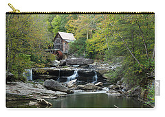 Carry-all Pouch featuring the photograph Glade Creek Grist Mill by Ann Bridges