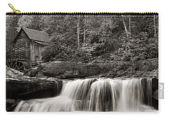 Glade Creek Grist Mill Monochrome Carry-all Pouch by Chris Flees