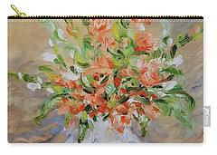 Carry-all Pouch featuring the painting Gladiolas by Judith Rhue