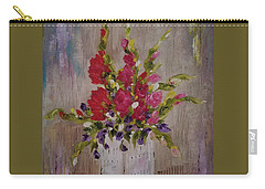 Carry-all Pouch featuring the painting Gladiolus On Point by Judith Rhue