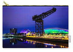 Glasgow At Night Carry-all Pouch by Ian Good
