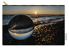 Glass Ball On The Beach At Sunrise Carry-all Pouch