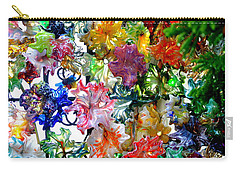 Glass Flower Garden In The French Quarter Of New Orleans Louisiana Carry-all Pouch by Michael Hoard