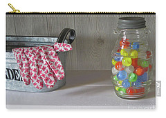 Carry-all Pouch featuring the photograph Glass Marbles From Childhood by Nancy Lee Moran