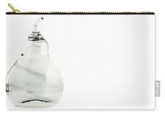 Glass Pear In Black And White Carry-all Pouch