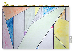 Carry-all Pouch featuring the mixed media Glass-scrapers by J R Seymour