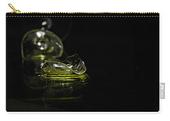 Carry-all Pouch featuring the photograph Glass Shard by Susan Capuano