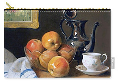 Glass, Silver And Apples Carry-all Pouch