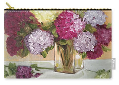 Carry-all Pouch featuring the painting Glass Vase by Sharon Schultz