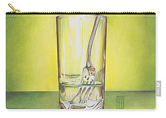 Glass With Melting Fork Carry-all Pouch