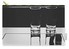 Glasses On A Table Bw Carry-all Pouch