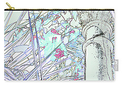 Carry-all Pouch featuring the photograph Glasshouse Jungle by Nareeta Martin