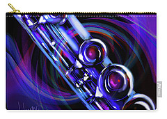 Carry-all Pouch featuring the painting Glassical Flute by DC Langer