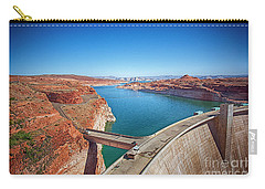 Carry-all Pouch featuring the photograph Glen Canyon Dam by Anne Rodkin