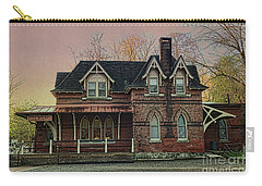 Carry-all Pouch featuring the photograph Glen Mill Train Station by Judy Wolinsky