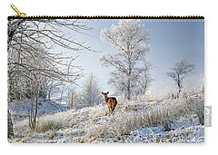 Glen Shiel Misty Winter Deer Carry-all Pouch by Grant Glendinning