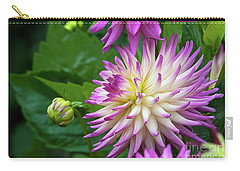 Glenbank Twinkle Dahlia Carry-all Pouch by Glenn Franco Simmons