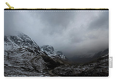Carry-all Pouch featuring the digital art Glencoe - Three Sisters by Pat Speirs