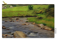 Glendalough In The Distance Carry-all Pouch by Jeff Kolker