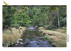 Carry-all Pouch featuring the photograph Glendasan River. by Terence Davis