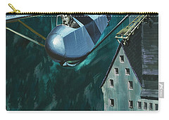 Glider Escape From Colditz Castle Carry-all Pouch by Wilf Hardy