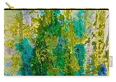 Carry-all Pouch featuring the painting Glimpse Of Spring by Carolyn Rosenberger