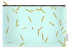 Glitter Confetti On Aqua Gold Pick Up Sticks Pattern Carry-all Pouch by Tina Lavoie