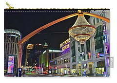 Carry-all Pouch featuring the photograph Glitz And Glamour In Cleveland Ohio by Frozen in Time Fine Art Photography