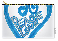Global Peace And Love Heart Carry-all Pouch