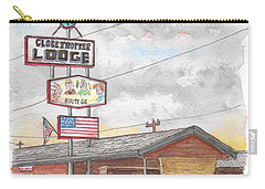 Globetrotter Lodge In Route 66, Holbrook, Arizona Carry-all Pouch by Carlos G Groppa