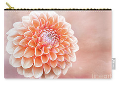Glorious Salmon Dahlia Carry-all Pouch