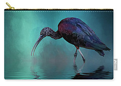 Glossy Ibis Looking For Breakfast Carry-all Pouch by Cyndy Doty