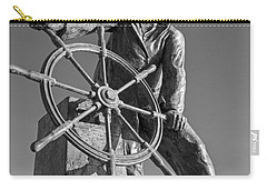 Gloucester Fisherman's Memorial Statue Black And White Carry-all Pouch