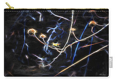 Carry-all Pouch featuring the photograph Glow Dead Heads by Anna Louise