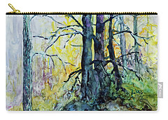 Carry-all Pouch featuring the painting Glow From The Tamarack by Joanne Smoley