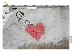 Carry-all Pouch featuring the photograph Glow Heart by Art Block Collections