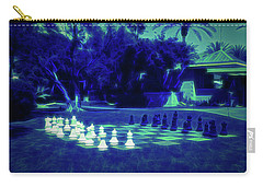 Carry-all Pouch featuring the photograph Glow In The Dark Chess At The Biltmore by Aimee L Maher Photography and Art Visit ALMGallerydotcom