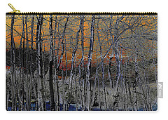 Glowing Aspens At Dusk Carry-all Pouch